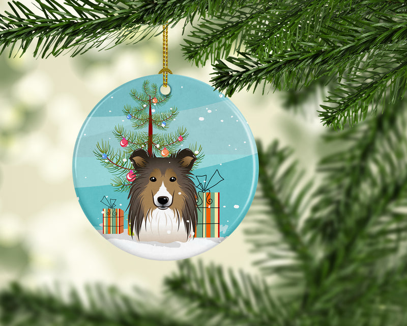Buy this Christmas Tree and Sheltie Ceramic Ornament BB1614CO1