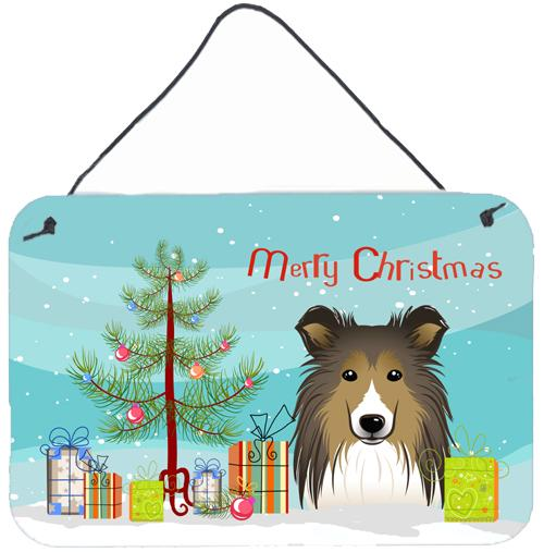 Buy this Christmas Tree and Sheltie Wall or Door Hanging Prints BB1614DS812