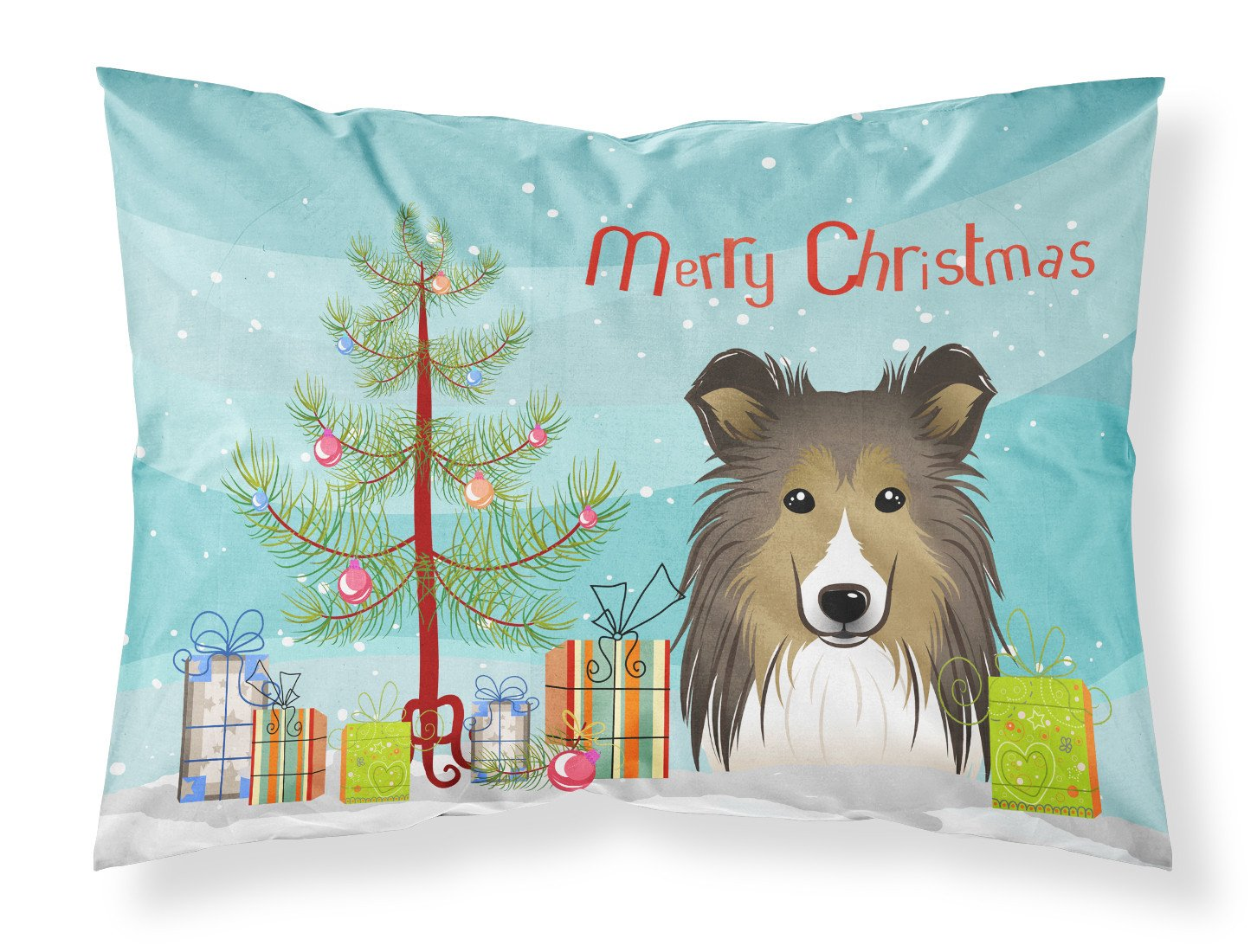 Buy this Christmas Tree and Sheltie Fabric Standard Pillowcase BB1614PILLOWCASE