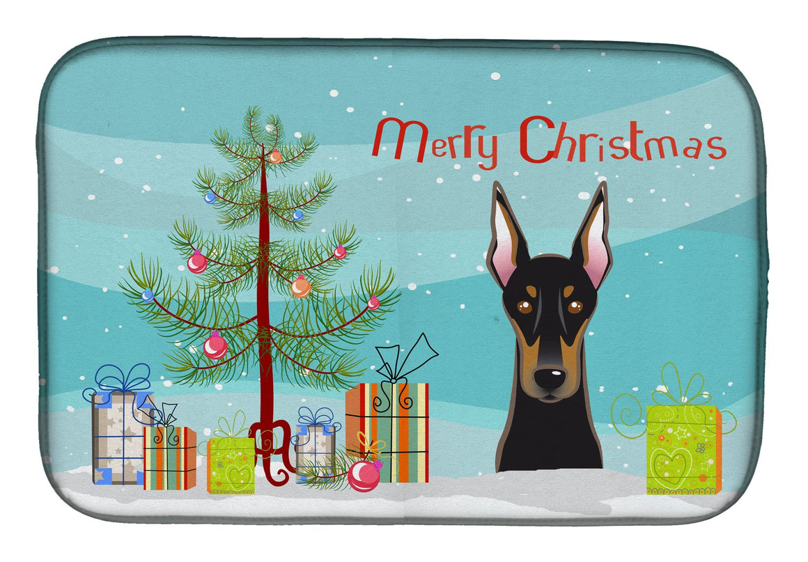Buy this Christmas Tree and Doberman Dish Drying Mat BB1617DDM