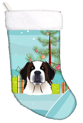 Buy this Christmas Tree and Saint Bernard Christmas Stocking BB1618CS