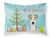 Buy this Christmas Tree and Wire Haired Fox Terrier Fabric Standard Pillowcase BB1619PILLOWCASE