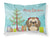 Buy this Christmas Tree and Chocolate Brown Shih Tzu Fabric Standard Pillowcase BB1621PILLOWCASE