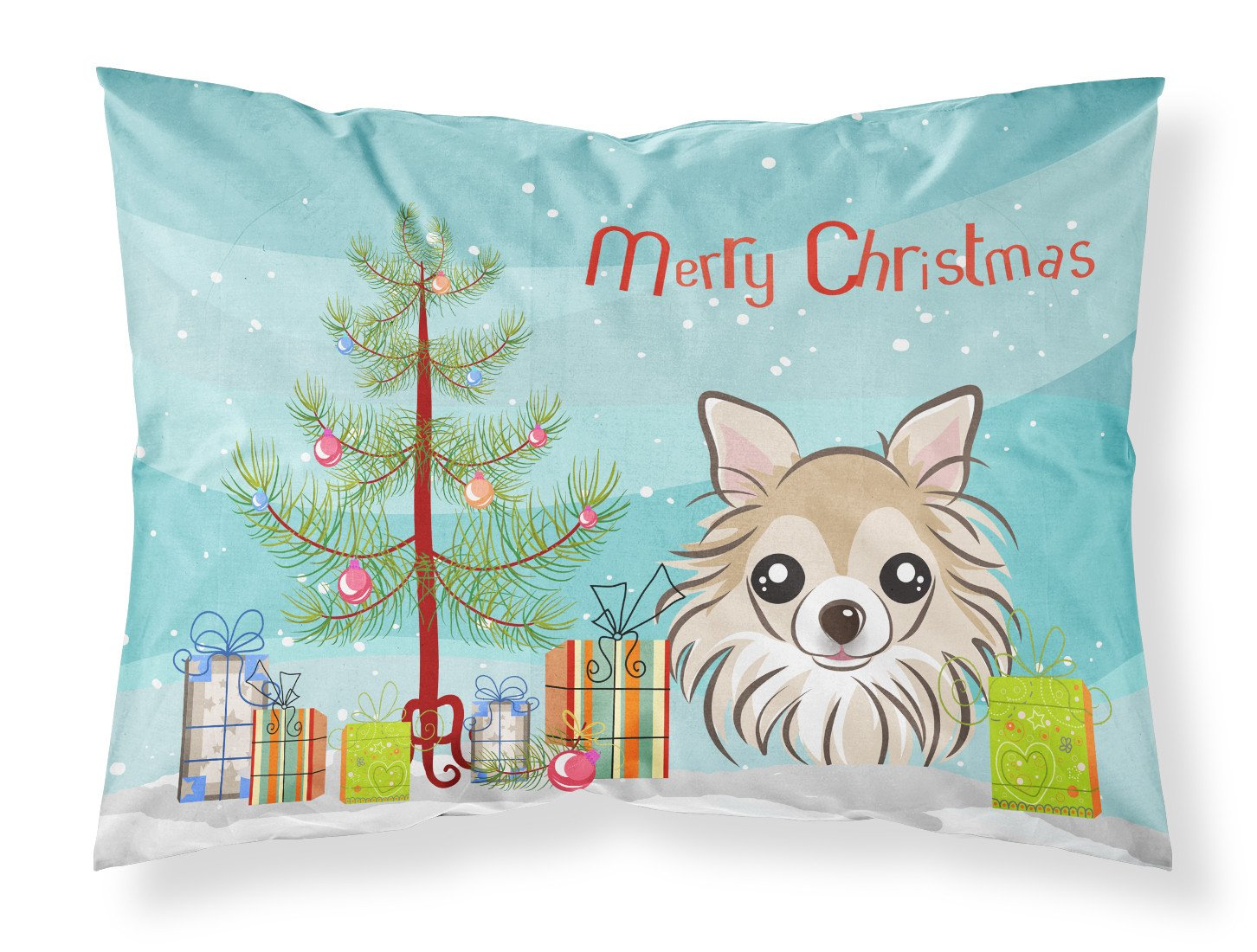 Buy this Christmas Tree and Chihuahua Fabric Standard Pillowcase BB1623PILLOWCASE