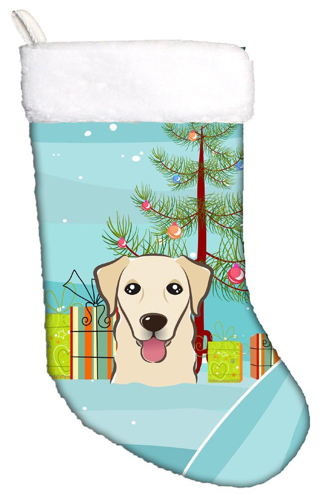 Buy this Christmas Tree and Golden Retriever Christmas Stocking BB1624CS