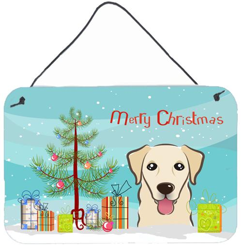 Buy this Christmas Tree and Golden Retriever Wall or Door Hanging Prints BB1624DS812