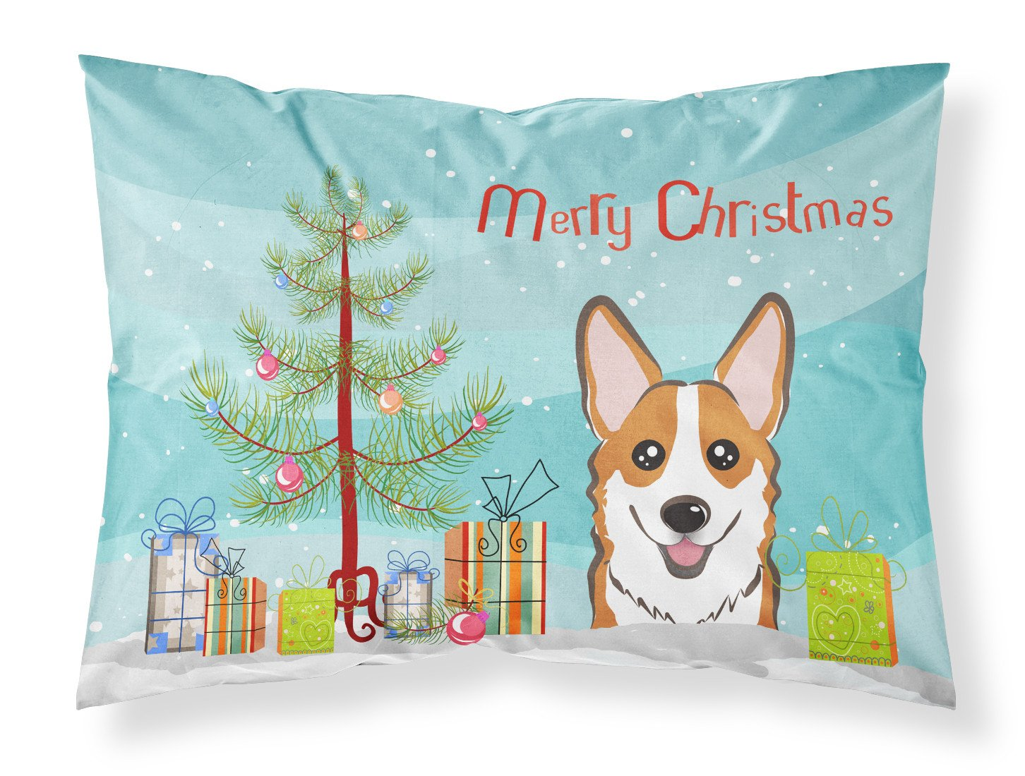 Buy this Christmas Tree and Red Corgi Fabric Standard Pillowcase BB1626PILLOWCASE