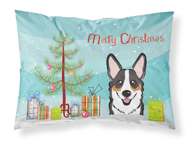 Buy this Christmas Tree and Tricolor Corgi Fabric Standard Pillowcase BB1627PILLOWCASE
