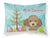 Buy this Christmas Tree and Chocolate Brown Poodle Fabric Standard Pillowcase BB1628PILLOWCASE