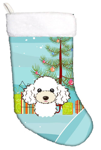Buy this Christmas Tree and White Poodle Christmas Stocking BB1629CS