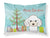 Buy this Christmas Tree and White Poodle Fabric Standard Pillowcase BB1629PILLOWCASE