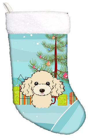 Buy this Christmas Tree and Buff Poodle Christmas Stocking BB1630CS