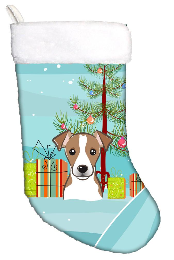 Buy this Christmas Tree and Jack Russell Terrier Christmas Stocking BB1632CS