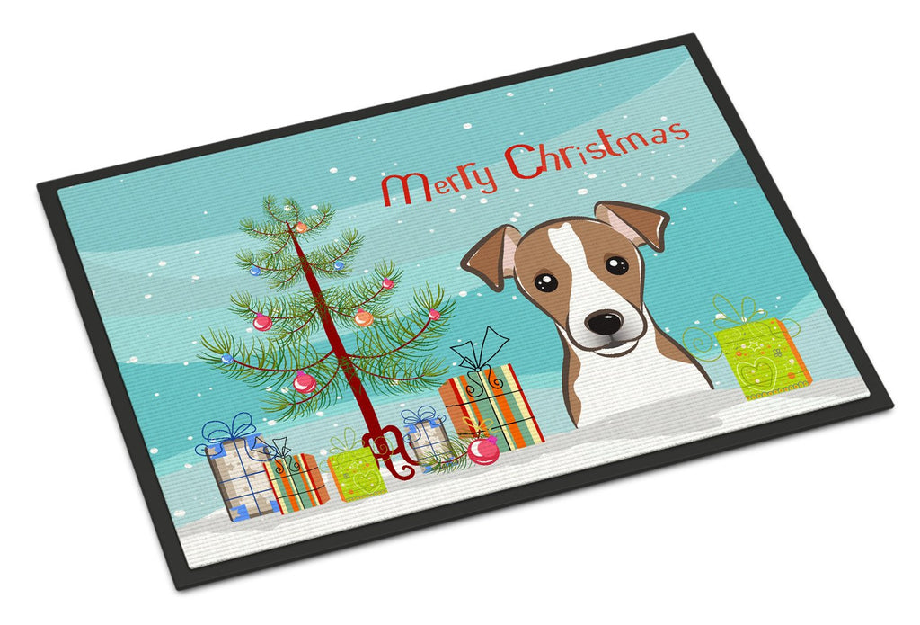 Buy this Christmas Tree and Jack Russell Terrier Indoor or Outdoor Mat 18x27 BB1632MAT