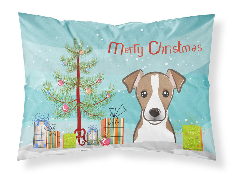 Buy this Christmas Tree and Jack Russell Terrier Fabric Standard Pillowcase BB1632PILLOWCASE
