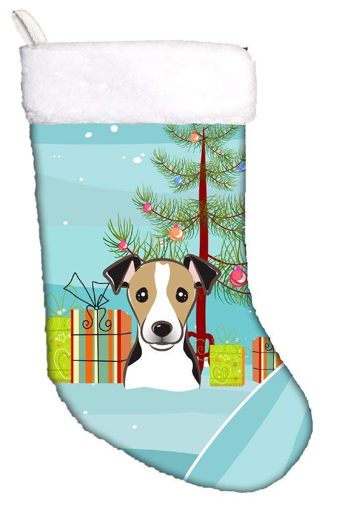 Buy this Christmas Tree and Jack Russell Terrier Christmas Stocking BB1633CS