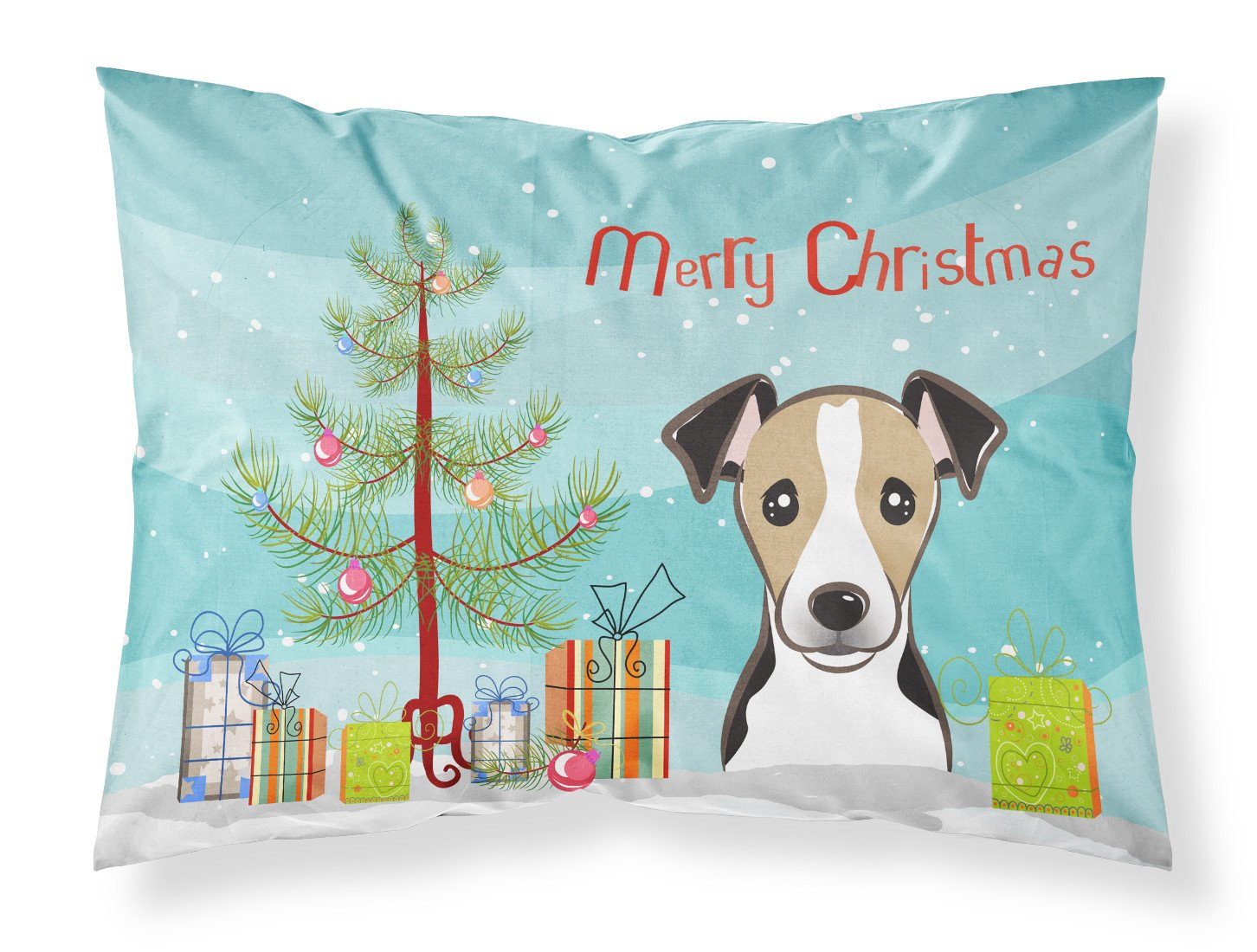 Buy this Christmas Tree and Jack Russell Terrier Fabric Standard Pillowcase BB1633PILLOWCASE