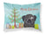 Buy this Christmas Tree and Black Pug Fabric Standard Pillowcase BB1635PILLOWCASE