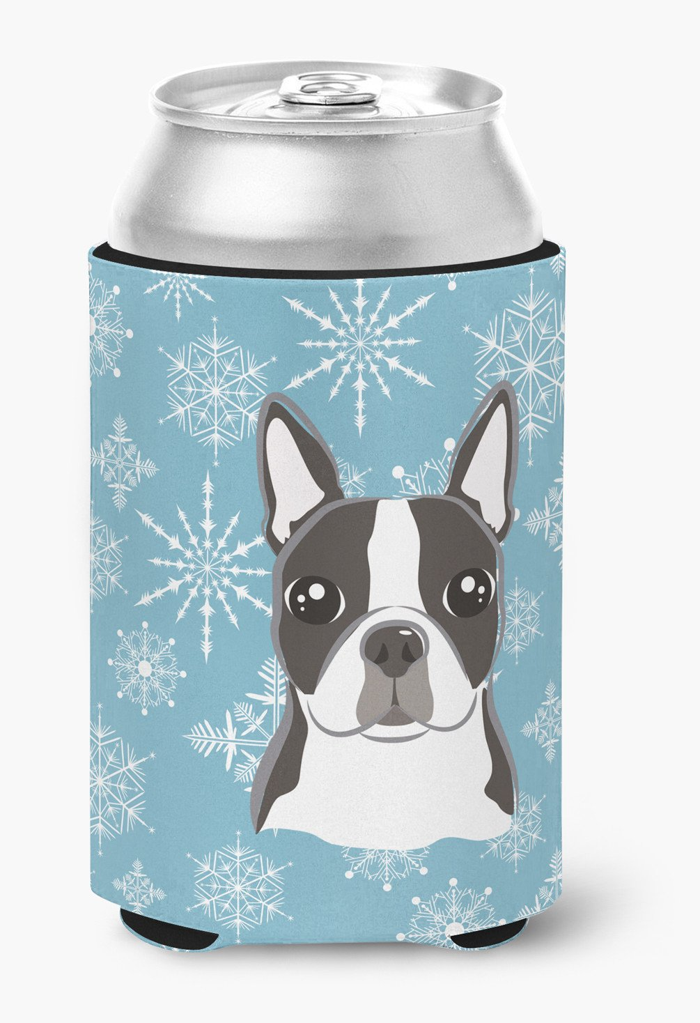Snowflake Boston Terrier Can or Bottle Hugger BB1637CC by Caroline's Treasures