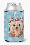 Snowflake Yorkie Yorkshire Terrier Can or Bottle Hugger BB1638CC by Caroline's Treasures