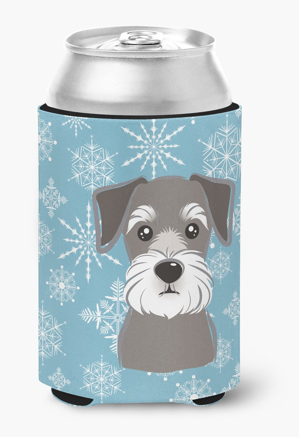Snowflake Schnauzer Can or Bottle Hugger BB1640CC by Caroline's Treasures