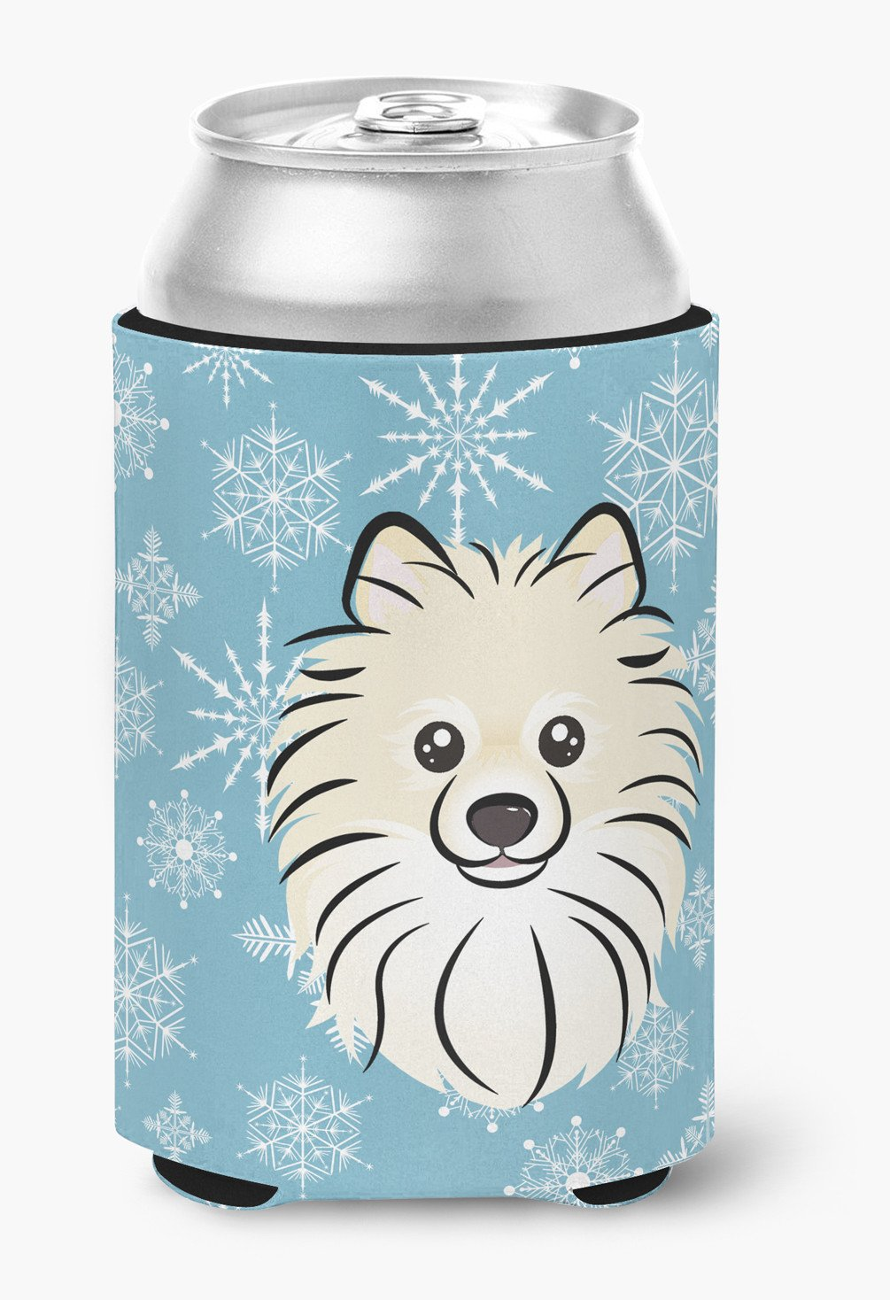 Snowflake Pomeranian Can or Bottle Hugger BB1641CC by Caroline's Treasures