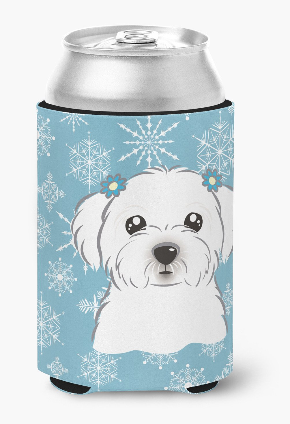 Snowflake Maltese Can or Bottle Hugger BB1642CC by Caroline's Treasures