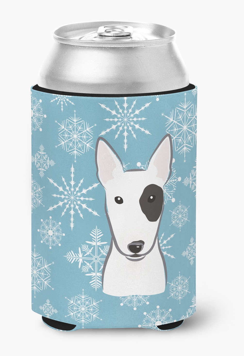 Snowflake Bull Terrier Can or Bottle Hugger BB1643CC by Caroline's Treasures