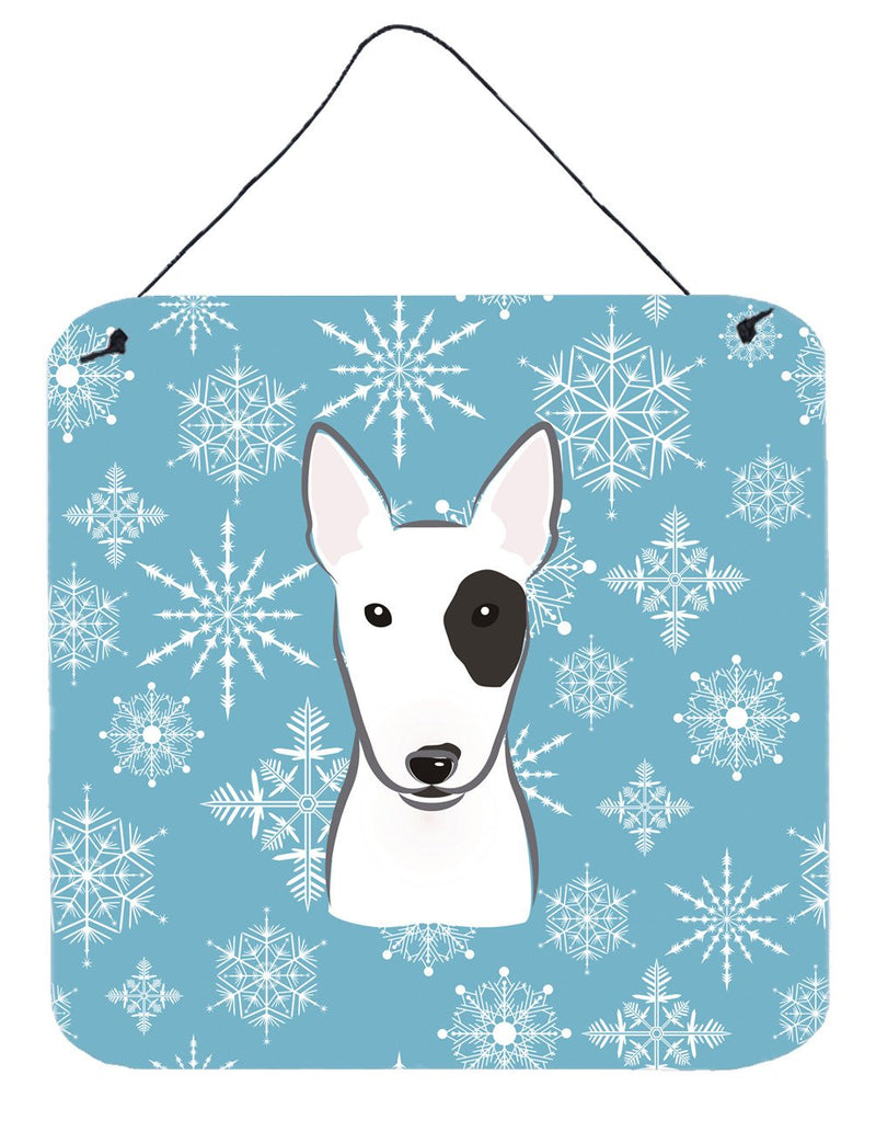 Buy this Snowflake Bull Terrier Wall or Door Hanging Prints BB1643DS66