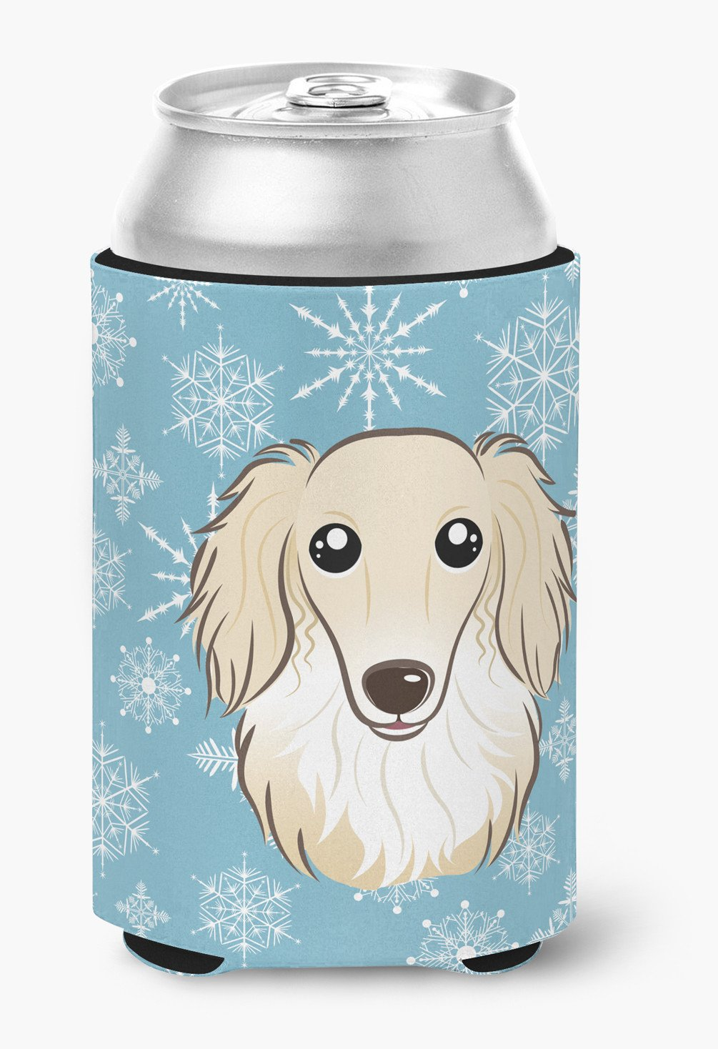 Snowflake Longhair Creme Dachshund Can or Bottle Hugger BB1646CC by Caroline's Treasures