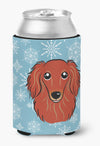 Snowflake Longhair Red Dachshund Can or Bottle Hugger BB1648CC by Caroline's Treasures