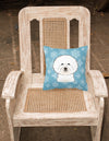 Snowflake Bichon Frise Fabric Decorative Pillow BB1651PW1414 - the-store.com