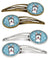 Snowflake Alaskan Malamute Set of 4 Barrettes Hair Clips BB1652HCS4 by Caroline's Treasures