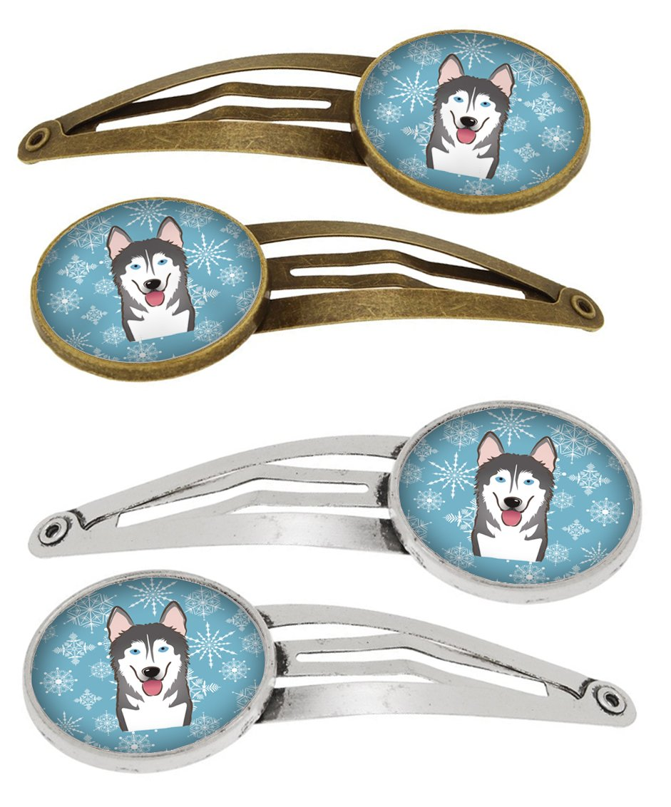 Buy this Snowflake Alaskan Malamute Set of 4 Barrettes Hair Clips BB1652HCS4