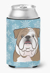 Buy this Snowflake English Bulldog  Can or Bottle Hugger BB1653CC