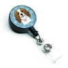 Snowflake Cavalier Spaniel Retractable Badge Reel BB1658BR by Caroline's Treasures
