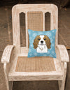 Snowflake Cavalier Spaniel Fabric Decorative Pillow BB1658PW1414 - the-store.com