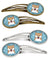 Buy this Snowflake Shiba Inu Set of 4 Barrettes Hair Clips BB1659HCS4