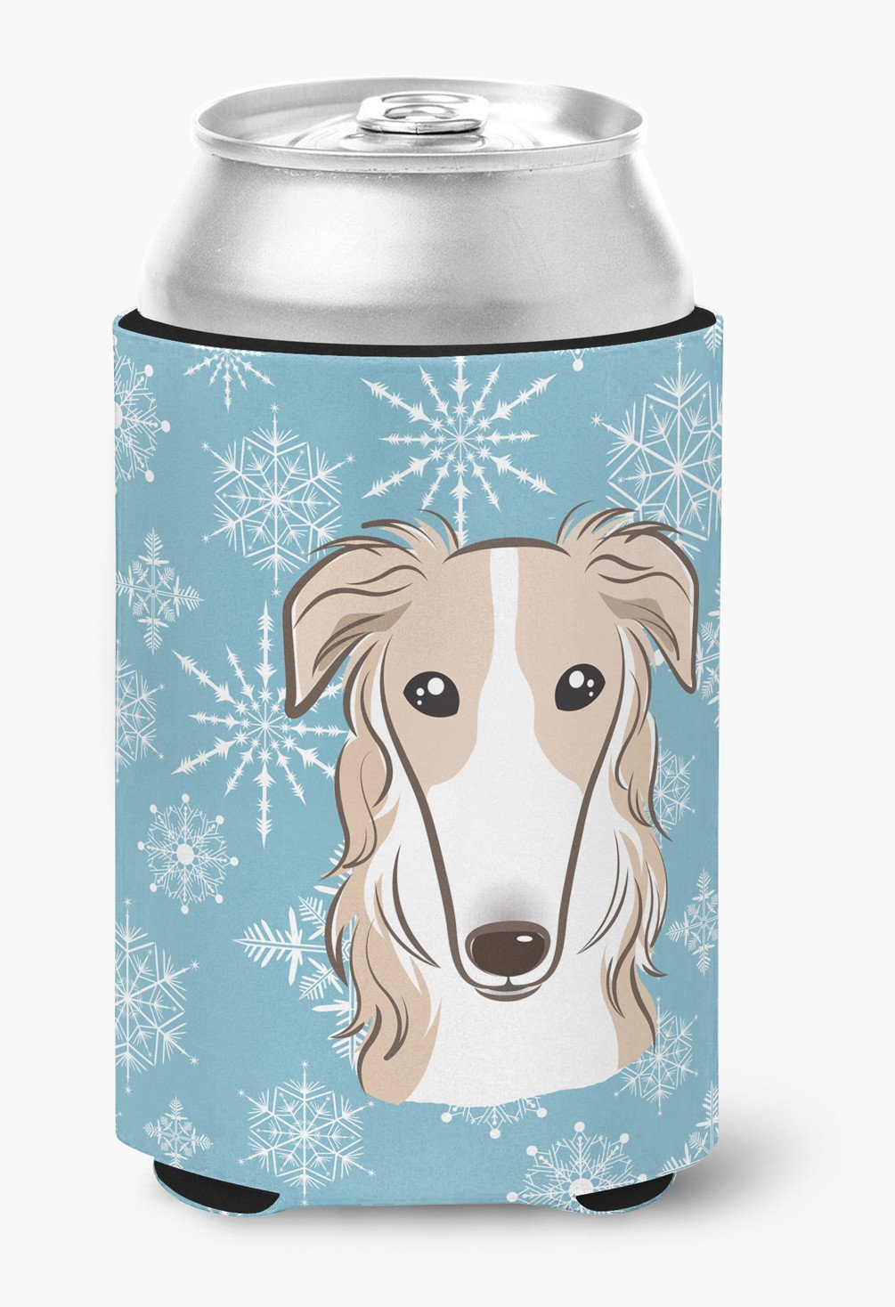 Snowflake Borzoi Can or Bottle Hugger BB1662CC by Caroline's Treasures
