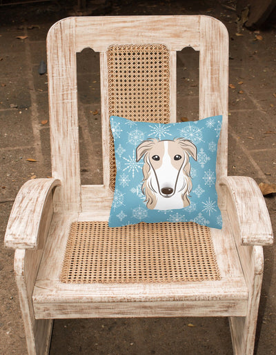 Snowflake Borzoi Fabric Decorative Pillow BB1662PW1414