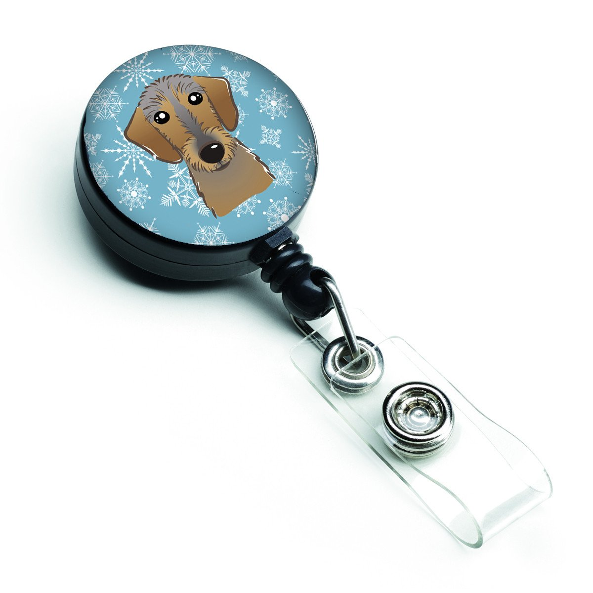 Snowflake Wirehaired Dachshund Retractable Badge Reel BB1667BR by Caroline's Treasures