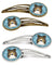 Buy this Snowflake Sheltie Set of 4 Barrettes Hair Clips BB1676HCS4