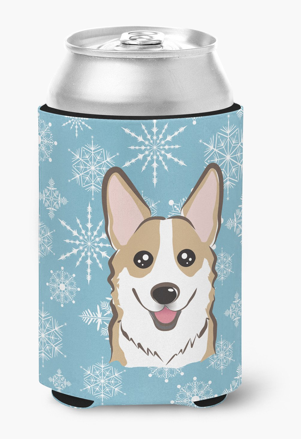 Snowflake Sable Corgi Can or Bottle Hugger BB1687CC by Caroline's Treasures