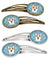 Snowflake Sable Corgi Set of 4 Barrettes Hair Clips BB1687HCS4 by Caroline's Treasures