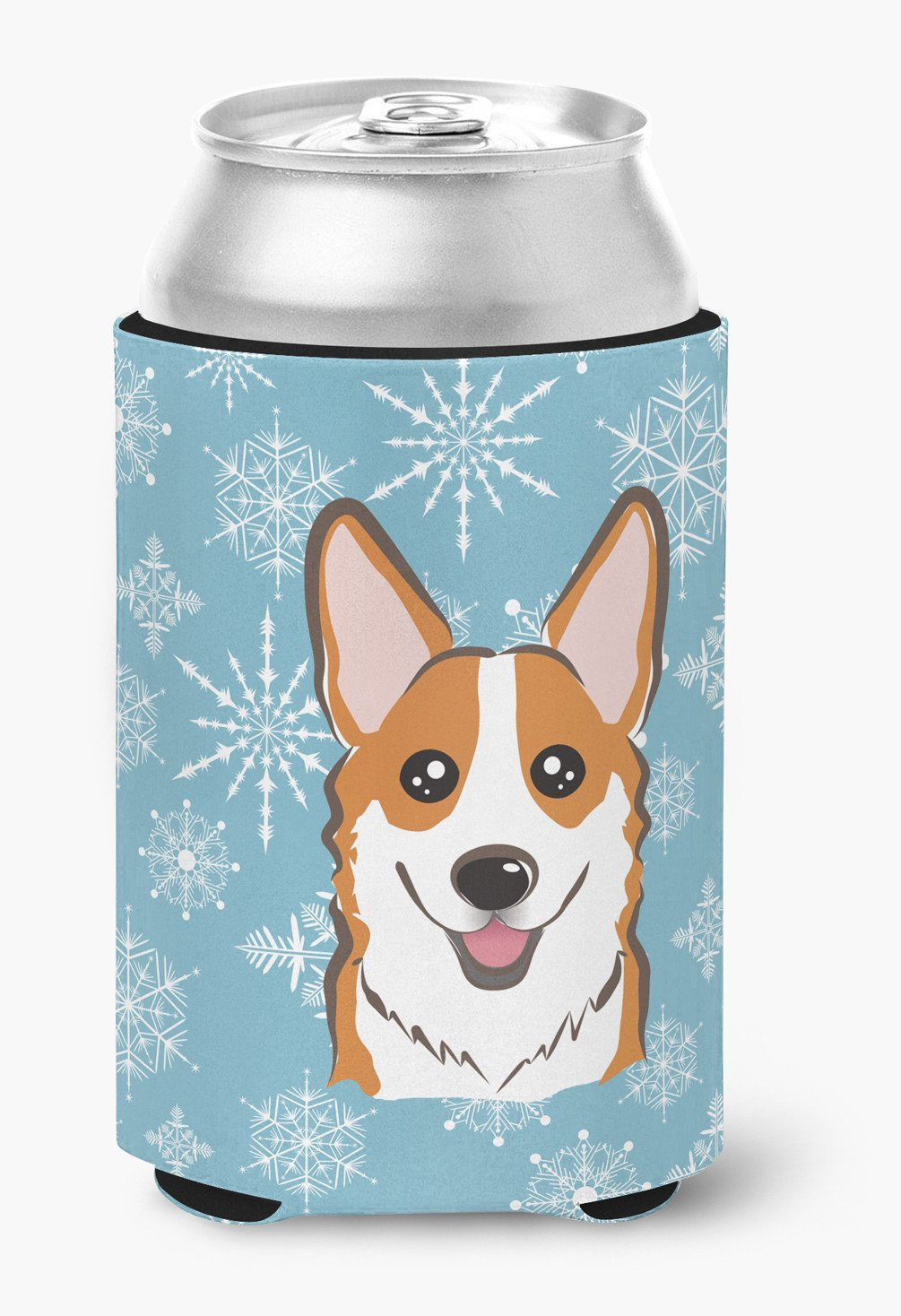 Snowflake Red Corgi Can or Bottle Hugger BB1688CC by Caroline's Treasures