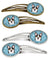 Snowflake Tricolor Corgi Set of 4 Barrettes Hair Clips BB1689HCS4 by Caroline's Treasures