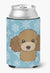 Buy this Snowflake Chocolate Brown Poodle Can or Bottle Hugger BB1690CC