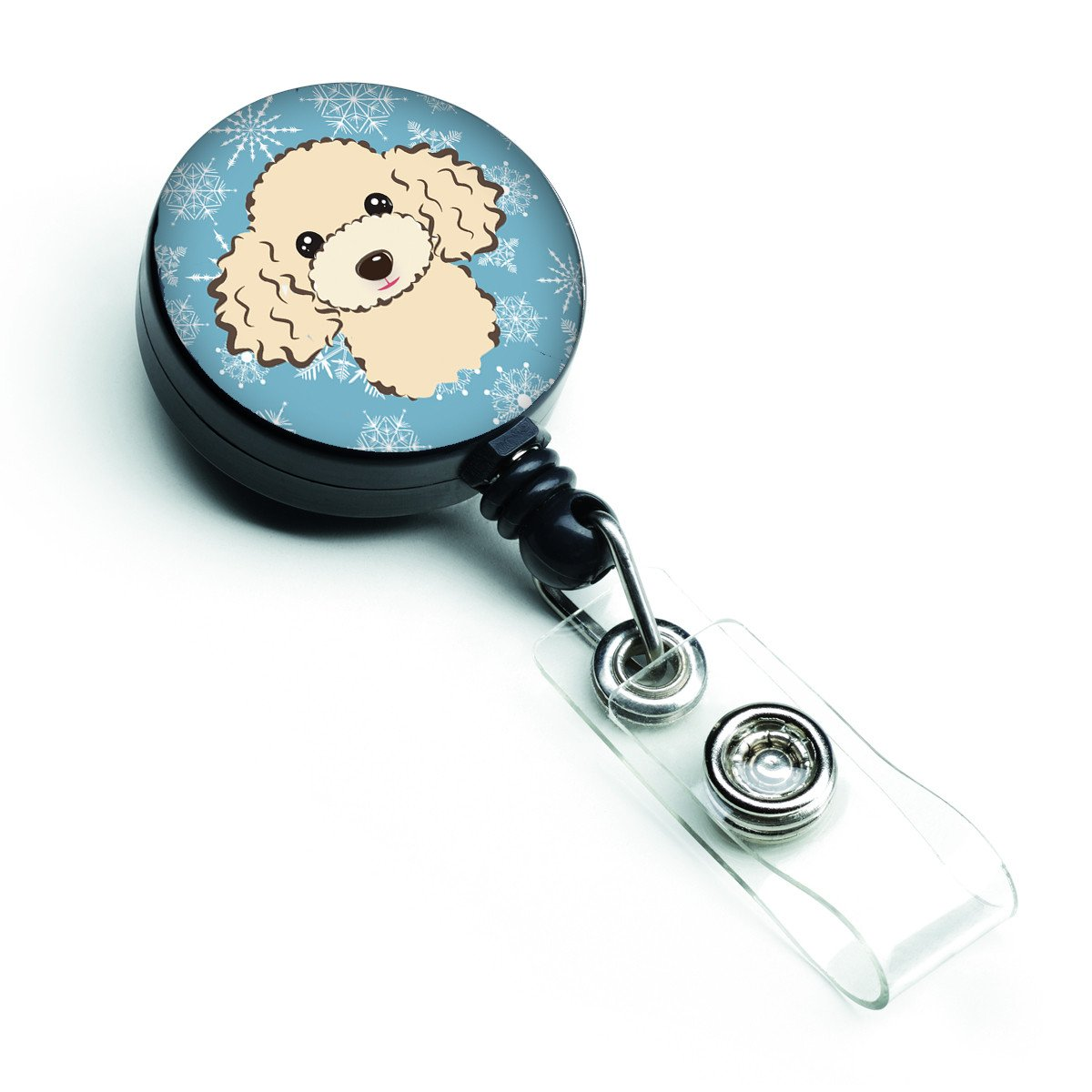 Buy this Snowflake Buff Poodle Retractable Badge Reel BB1692BR