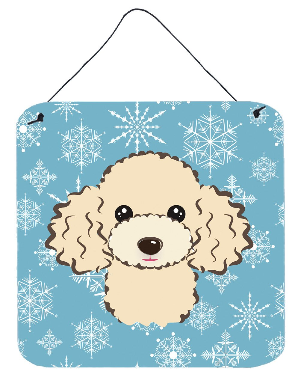Buy this Snowflake Buff Poodle Wall or Door Hanging Prints BB1692DS66