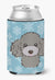 Snowflake Silver Gray Poodle Can or Bottle Hugger BB1693CC by Caroline's Treasures